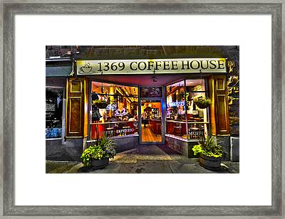 1369 Coffee House Cambridge Ma Framed Print by Toby McGuire