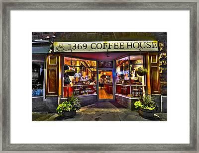 1369 Coffee House Cambridge Ma Framed Print