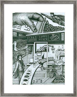 1369 Coffee House Framed Print by Richie Montgomery