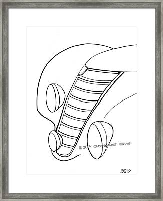 137-ls 'rainbow Fiat' Framed Print by Gregory Otvos