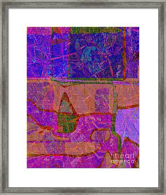 1381 Abstract Thought Framed Print