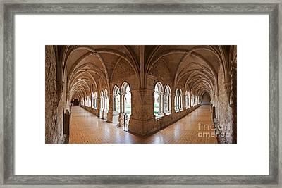 13th Century Gothic Cloister Framed Print by Jose Elias - Sofia Pereira