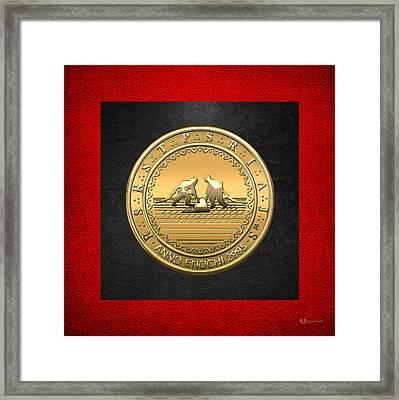 13th Degree Mason - Royal Arch Of Solomon Masonic Jewel  Framed Print by Serge Averbukh