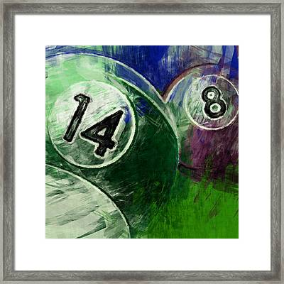 14 8 Billiards Framed Print by David G Paul