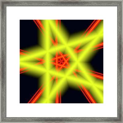 Abstract Artwork Framed Print by Mehau Kulyk
