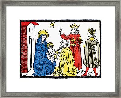 Adoration Of Magi Framed Print