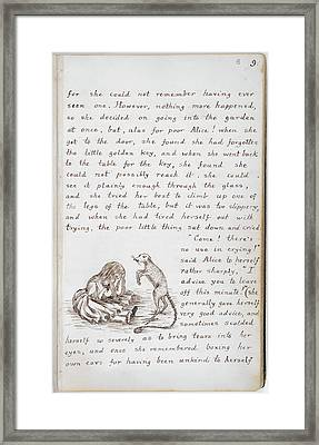 Alice's Adventures In Wonderland Framed Print by British Library