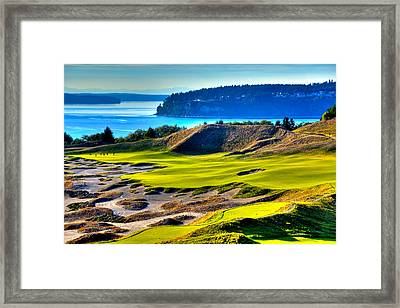 #14 At Chambers Bay Golf Course - Location Of The 2015 U.s. Open Tournament Framed Print