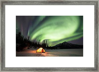 Aurora Borealis In Alaska Framed Print by Chris Madeley
