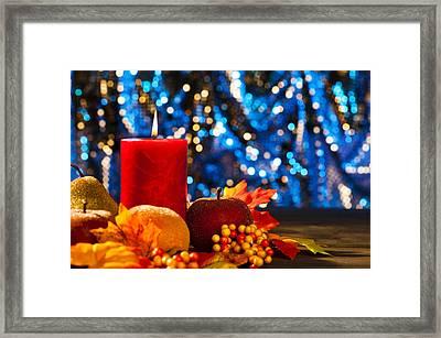 Autumn Candles Framed Print by Ulrich Schade