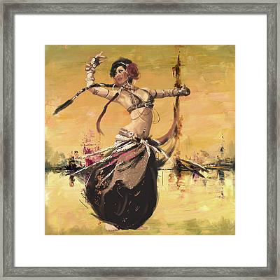 Abstract Belly Dancer 14 Framed Print by Corporate Art Task Force