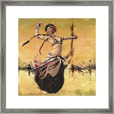 Abstract Belly Dancer 14 Framed Print