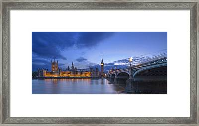 Big Ben And The Houses Of Parliament  Framed Print by David French