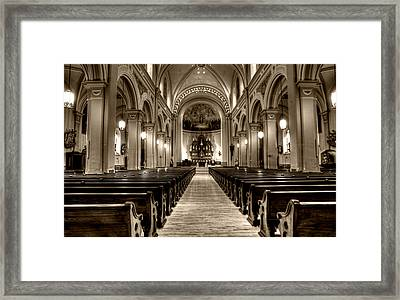 Church Of The Assumption Framed Print by Amanda Stadther