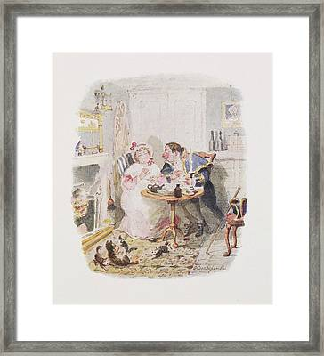 Cruikshank's Water Colours Framed Print by British Library