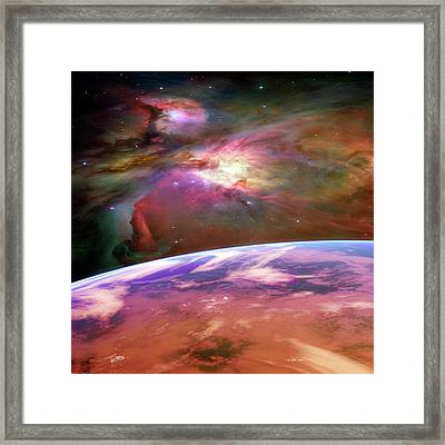 Earth-like Alien Planet Framed Print