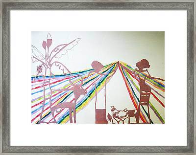 Kintu And Nambi Framed Print by Gloria Ssali