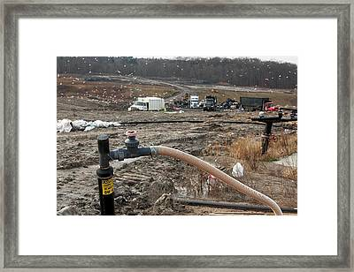 Landfill Gas Recovery Well Framed Print by Jim West