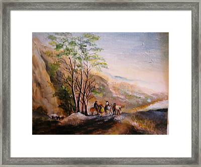 Framed Print featuring the painting Landscape by Egidio Graziani