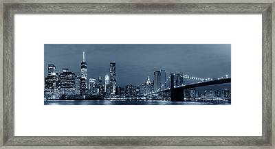 Manhattan Downtown Framed Print