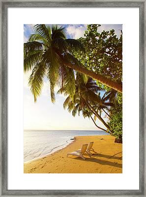 Matangi Private Island Resort, Fiji Framed Print by Douglas Peebles