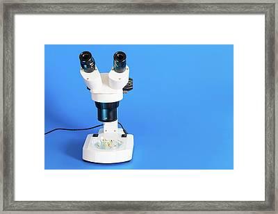 Medical Microscope Framed Print by Wladimir Bulgar