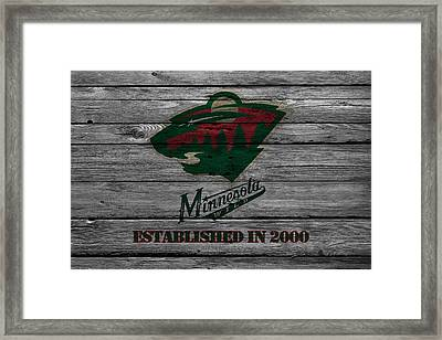 Minnesota Wild Framed Print by Joe Hamilton