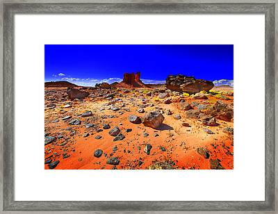 Framed Print featuring the photograph Monument Valley Usa by Richard Wiggins