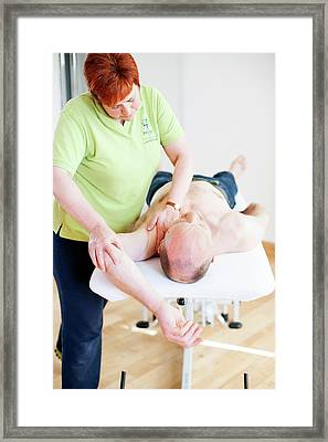 Physiotherapy Session Framed Print by Dan Dunkley