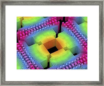 Quantum Computer Framed Print by Alfred Pasieka