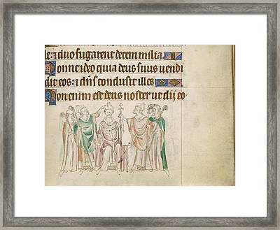 Queen Mary Psalter Framed Print by British Library