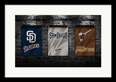 San Diego California Baseball Stadiums Framed Prints