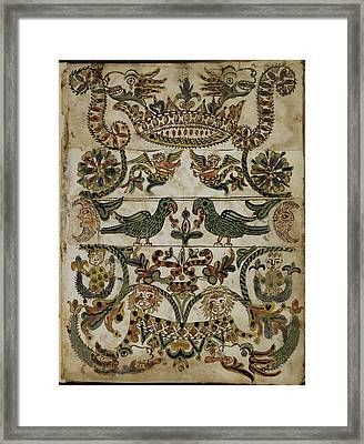 Service Book For The Jewish New Year Framed Print by British Library