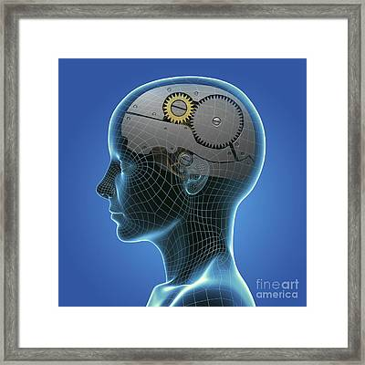 Thought Mechanism Framed Print by Science Picture Co