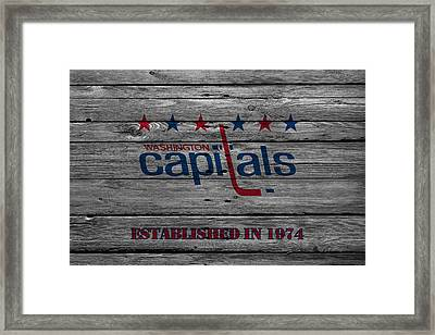 Washington Capitals Framed Print by Joe Hamilton