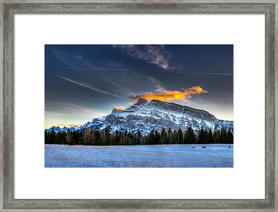 Winter In The Mountains Framed Print by Brandon Smith