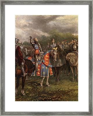 1400s Henry V Of England Speaking Framed Print