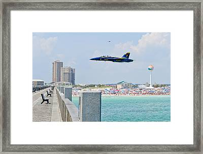 Blue Angels On Pensacola Beach Framed Print by Specialist 2nd Class Andrea Perez