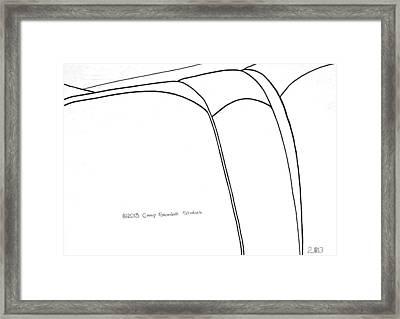 144-ls  'jordon Leather' Framed Print by Gregory Otvos