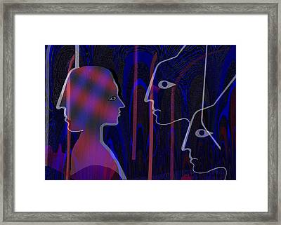 145 -   Shadows Of Your Face  Framed Print by Irmgard Schoendorf Welch