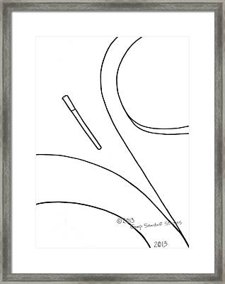 147-ls 'teardropper' Framed Print by Gregory Otvos