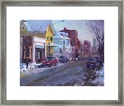 149 Elmwood Ave Savoy Framed Print by Ylli Haruni