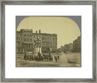 14th Street With Union Square And Washington Monument Framed Print by Litz Collection