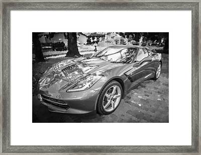 2014 Chevrolet Corvette C7 Bw   Framed Print