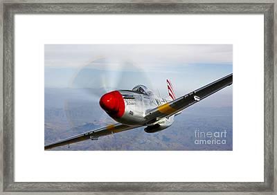 A P-51d Mustang In Flight Framed Print by Scott Germain