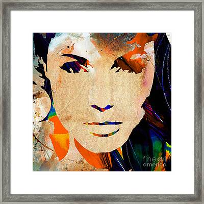 Angelina Jolie Collection Framed Print by Marvin Blaine