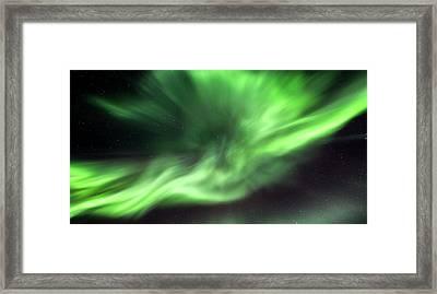 Aurora Borealis In Alaska Framed Print