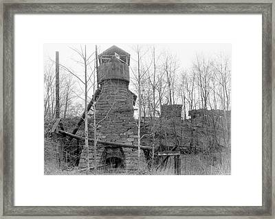 Blast Furnace Framed Print by Hagley Museum And Archive