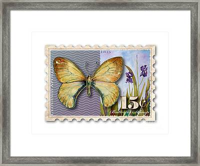 15 Cent Butterfly Stamp Framed Print