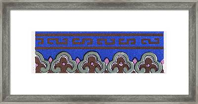Chinese Ornament Framed Print by Litz Collection